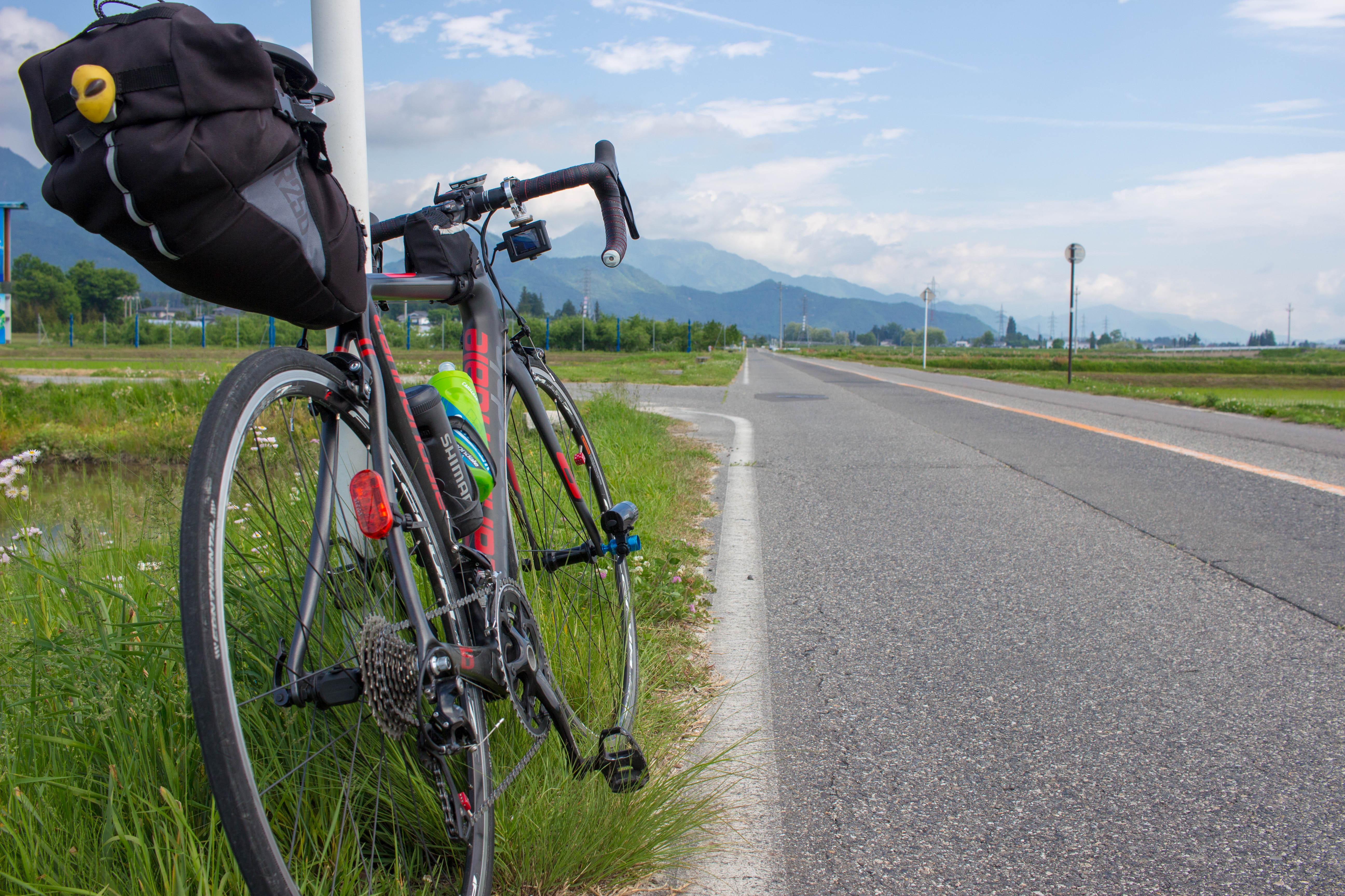 自転車で安曇野を走る